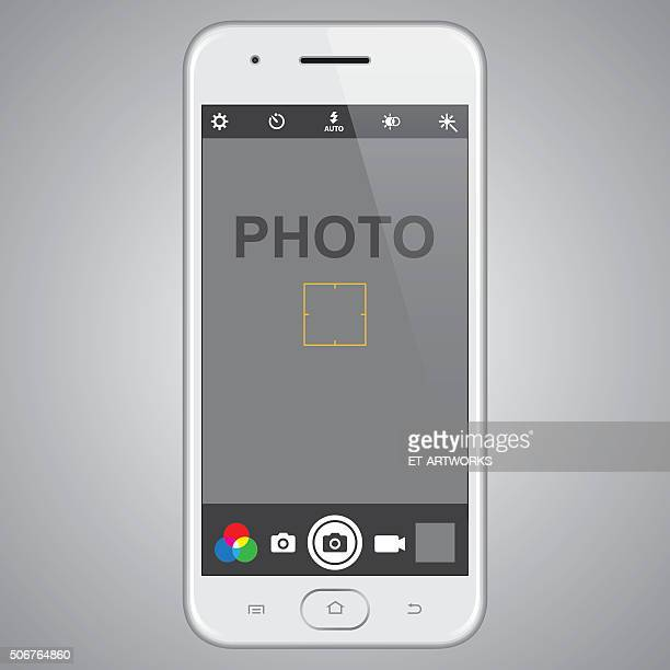 Smartphone with photo template
