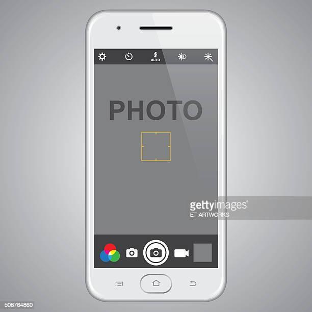 Smartphone com fotos modelo