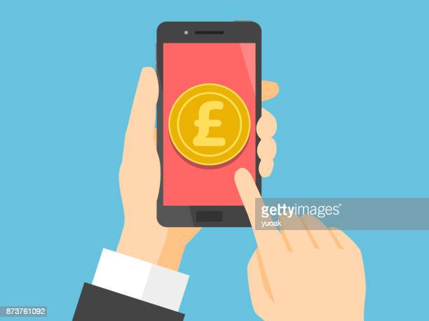 Smartphone with pound sterling on display