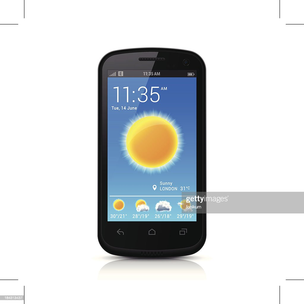 Smartphone with Weather App
