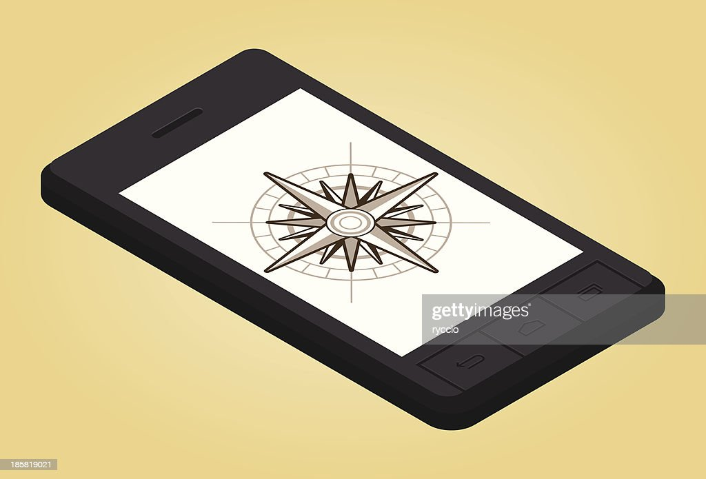 スマートフォンでウィンドローズ : ストックイラストレーション