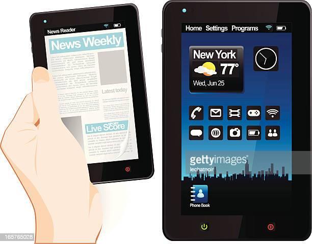 smartphones - electronic organizer stock-grafiken, -clipart, -cartoons und -symbole
