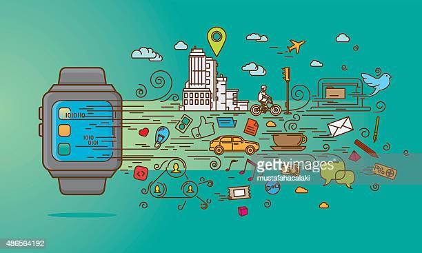 Smartwatch doodle with applications