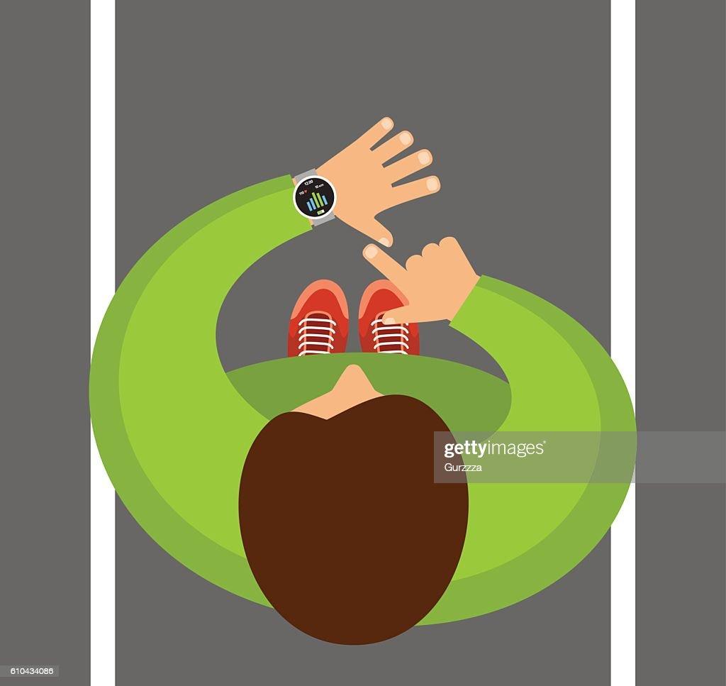 Smartwatch on a wrist