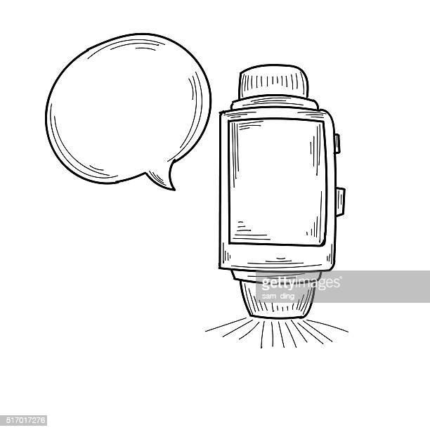 smartwatch - smart watch stock illustrations