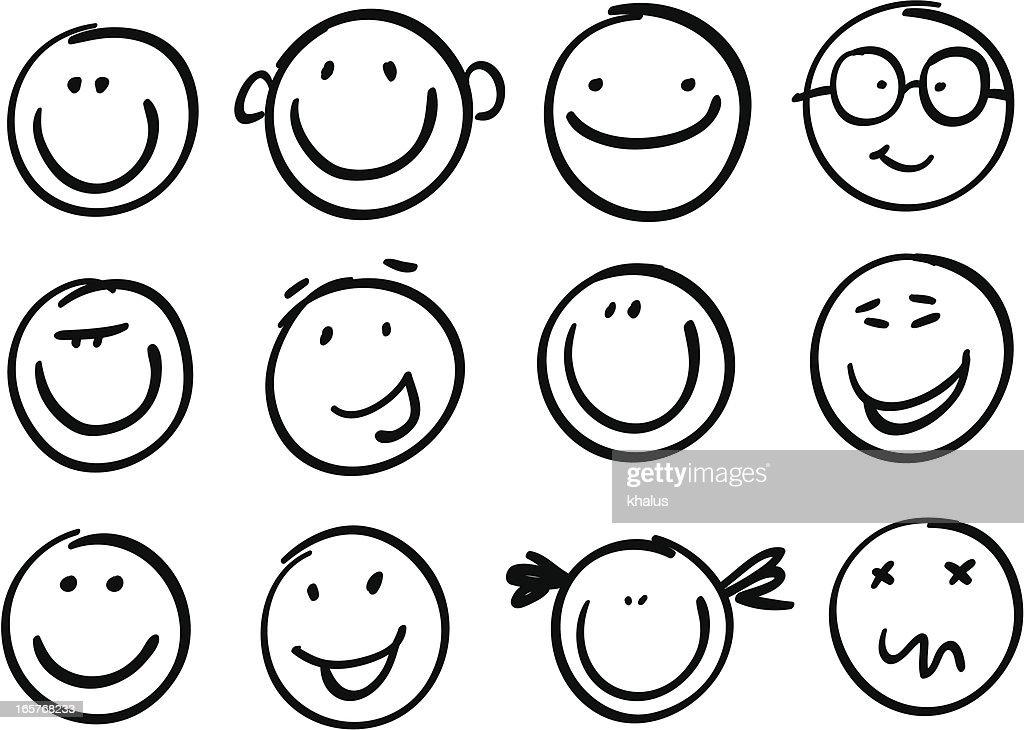 Lächeln frech : Stock-Illustration