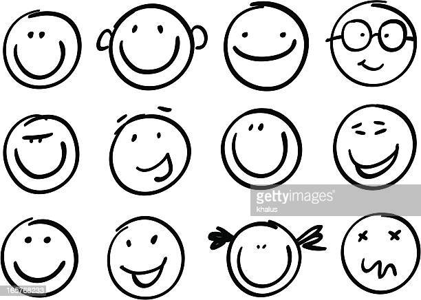 stockillustraties, clipart, cartoons en iconen met smile brash - glimlachen