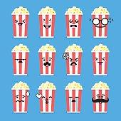 Smile face popcorn