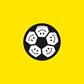 Smile Football Vector Template Design Illustration