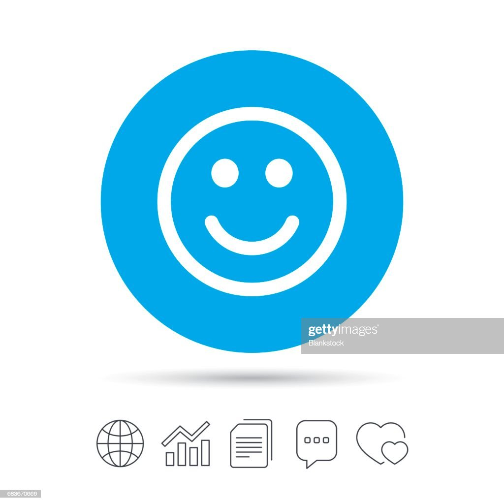 Smile Icon Happy Face Symbol Vector Art Getty Images