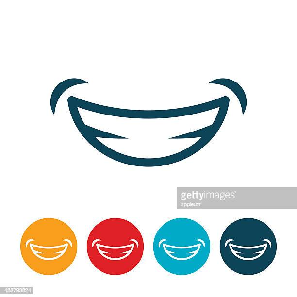 smile icon - smiling stock illustrations
