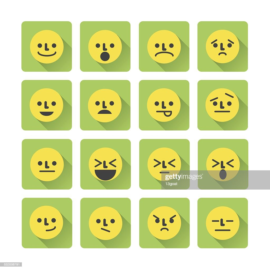 Smile Icons, Emotion Color Symbols