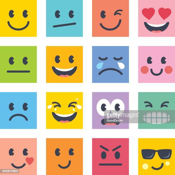 smile icons - emotion stock illustrations