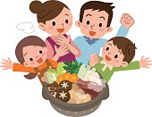 Smile of family rejoice in Casserole