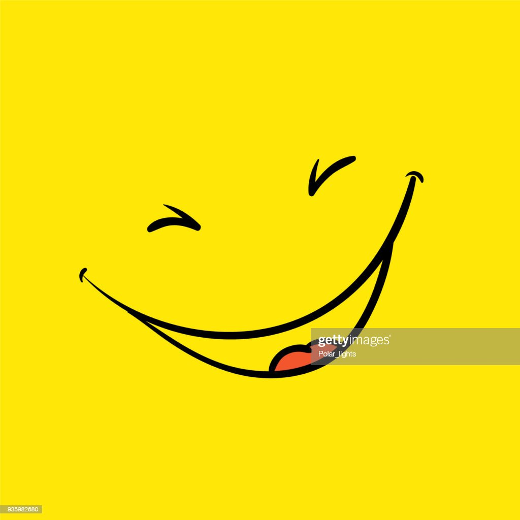 Smile template, yellow positive thinking poster