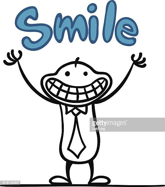 big smile - cartoon characters with big teeth stock illustrations
