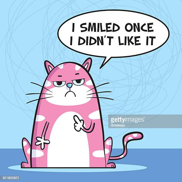 Smiled once cat