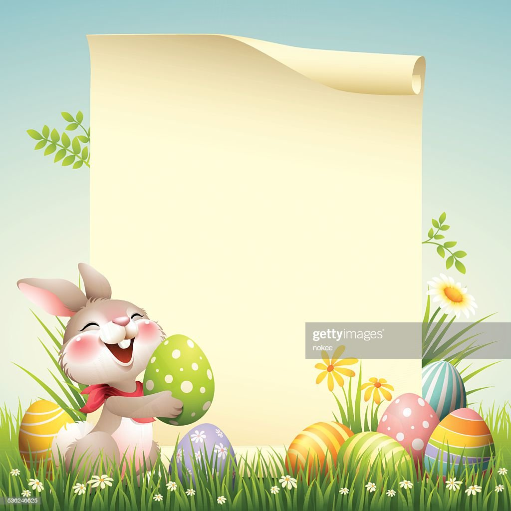 Smiley Bunny - Easter Scroll