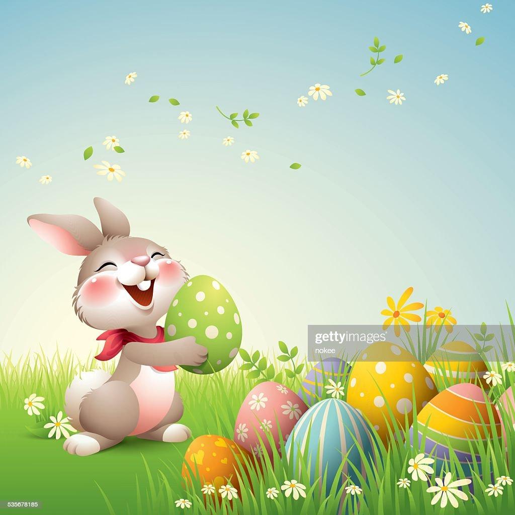 Smiley Bunny - Easter : Stock Illustration