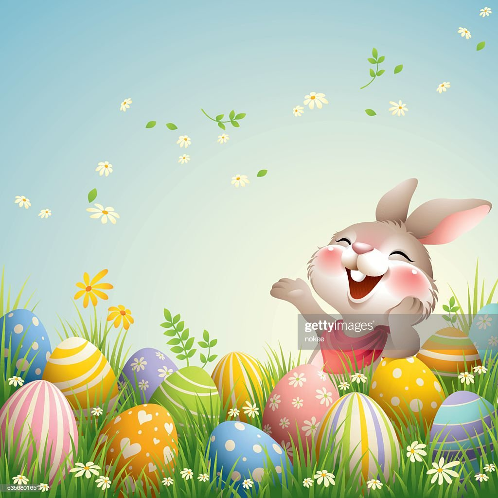Smiley Bunny - Happy Easter