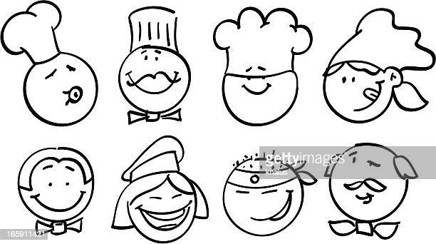 Smiley collection | Food professions