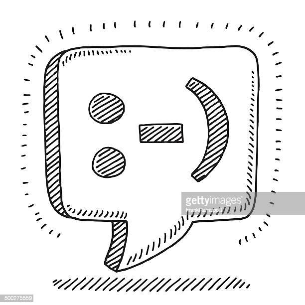 Smiley Emoticon Speech Bubble Drawing