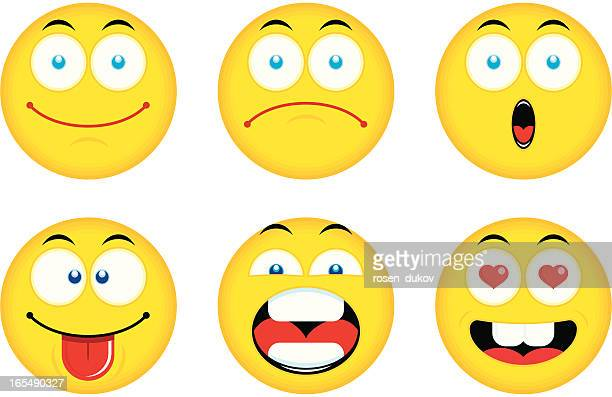 smiley emoticons (set 1) - sticking out tongue stock illustrations, clip art, cartoons, & icons