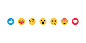 Smiley face, like, heart in isometry. Emotion Icons