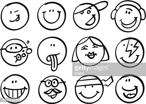 smiley faces collection vector art getty images