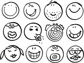 Smiley head collection
