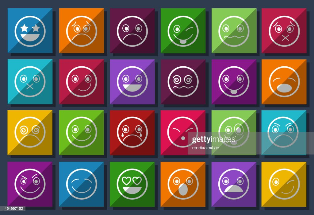 Smiley Icons Design Metro style set