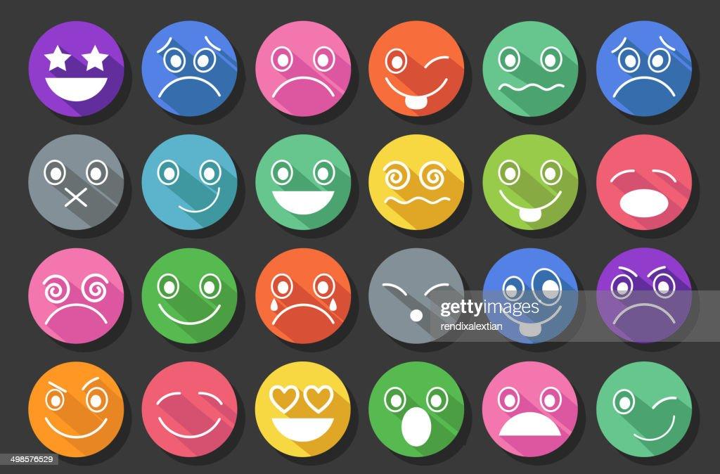 Smiley Icons Flat Design
