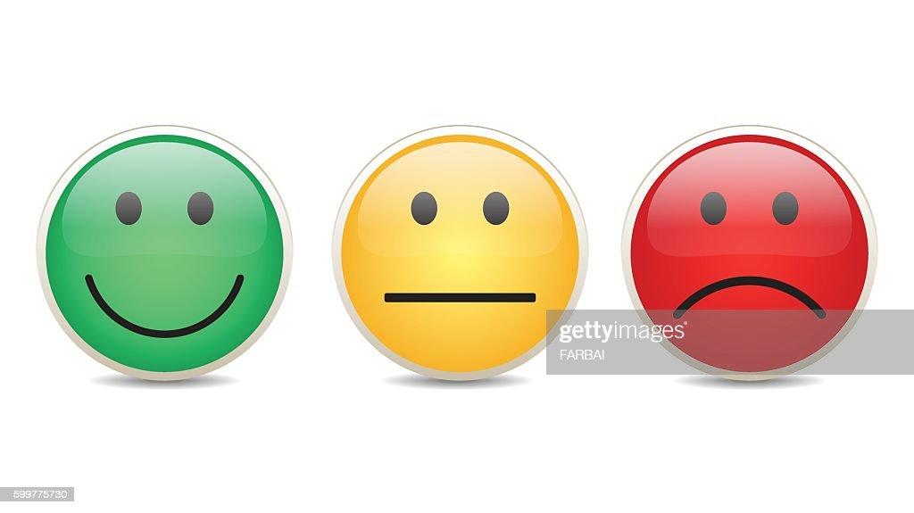 Smiley set survey vector