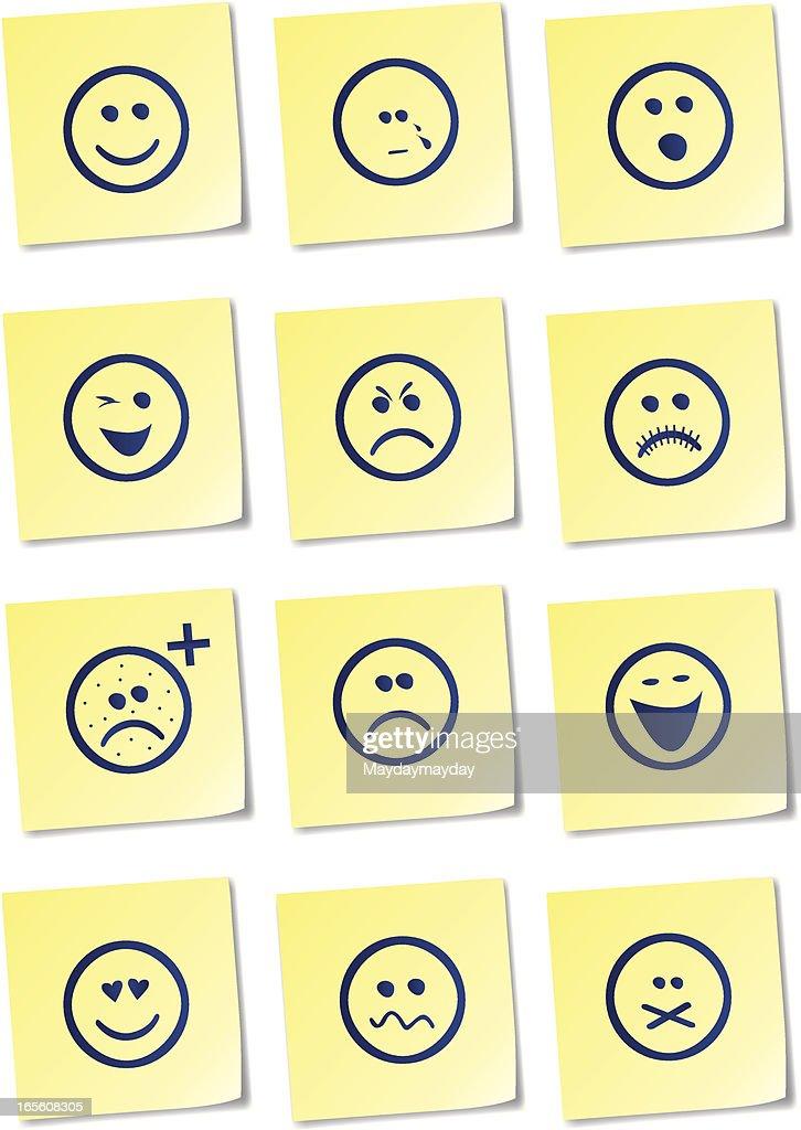 Smiley sticky notes