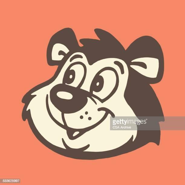 smiling bear - bear cub stock illustrations