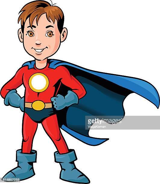 Smiling Boy in Superhero Costume