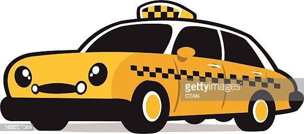 ilustraciones, imágenes clip art, dibujos animados e iconos de stock de sonriendo cab - taxista