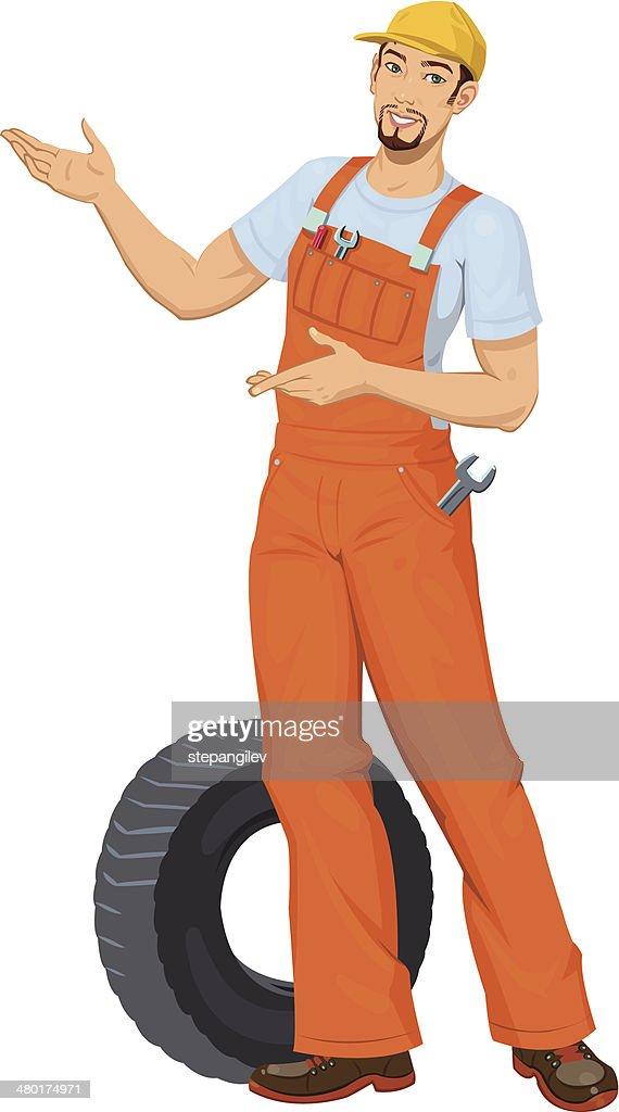 Smiling Car mechanic