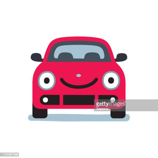 smiling car - front view stock illustrations