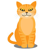 Smiling cat. Vector