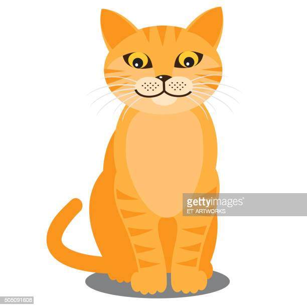 Smiling cat. Vector