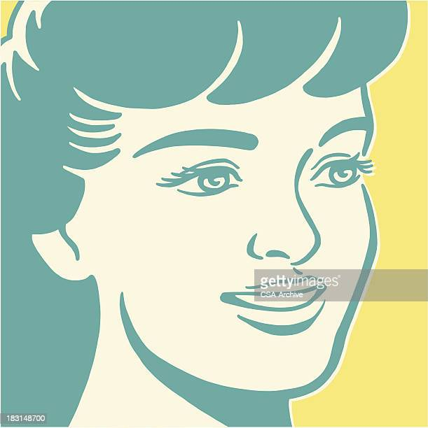 Smiling Dark Haired Woman
