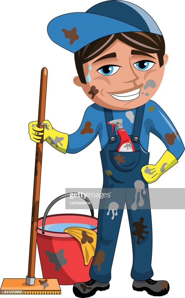 Smiling dirty Cleaner