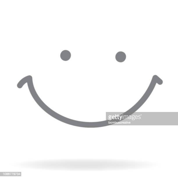 smiling face icon - smiley faces stock illustrations
