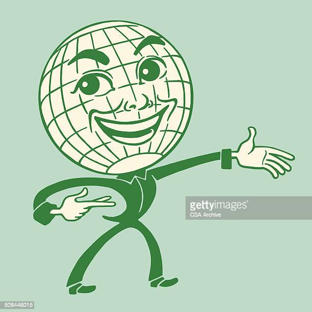 Smiling Globe Person