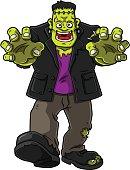 Smiling Green Zombie Monster