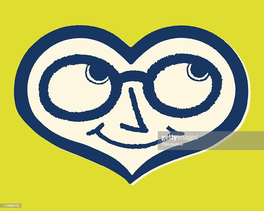 Smiling Heart : stock illustration