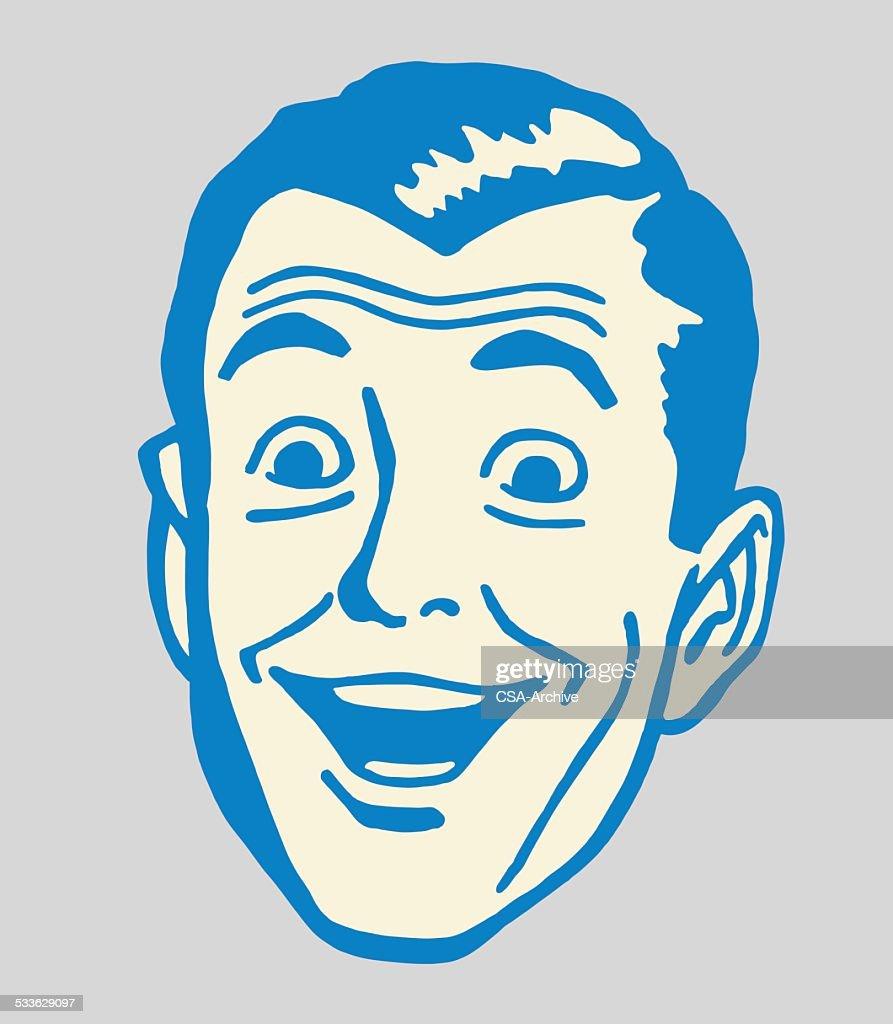 Smiling Man : stock illustration
