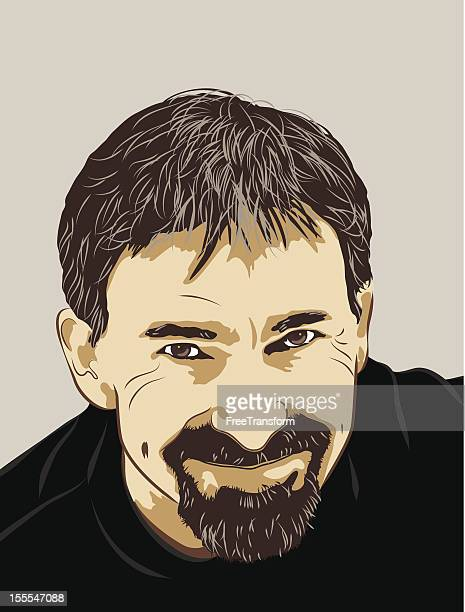 Smiling Man Vector Portrait