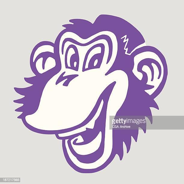 lächelnd affe - chimpanzee stock-grafiken, -clipart, -cartoons und -symbole